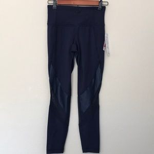 6c0b510a3935f Athleta Pants | Mesh Shine Salutation 78 Tight Xs Navy | Poshmark